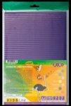 Набор цветного гофрокартона (цветной в разрезе), 7 листов А4: 7 цветов