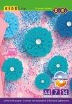 Набор двухсторонней цветной бумаги А4 формата, 14 листов: 7 цветов