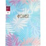 Дисплей-книга 20 файлов Forest, 3D пластик, голубая