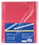 Файл для документів PROFESSIONAL, А4, 40мкм, червоний, по 100 шт. в упаковці