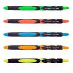 Ручка масляная автоматическая LIVE TOUCH, RUBBER TOUCH, 0,7 мм, синие чернила
