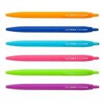 Ручка масляная автоматическая HOLLY TOUCH, RUBBER TOUCH, 0,7 мм, синие чернила
