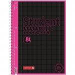 Коледж-блок А4 Premium, кліт. 80 арк., Black Neon, рожев.
