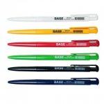 Ручка кулькова автоматична BASE, JOBMAX, 0,7 мм, пласт. корпус, синя, чорна