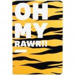 Книга записна тв. обкл, А5, 96 арк, кл, Animals Talk, Tiger