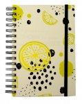 Блокнот на пружині збоку FRUCTS, А-5, 80арк., клітинка, тв. картонна обкладинка, жовтий