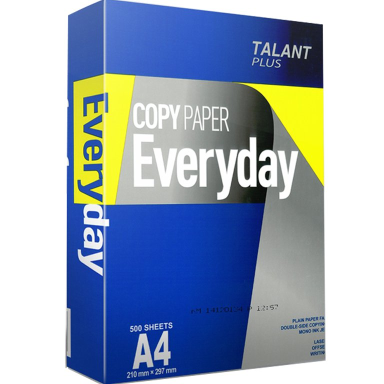 Бумага А4 Talant Plus Everyday (Китай) 75г/м2, 500 листов, класс