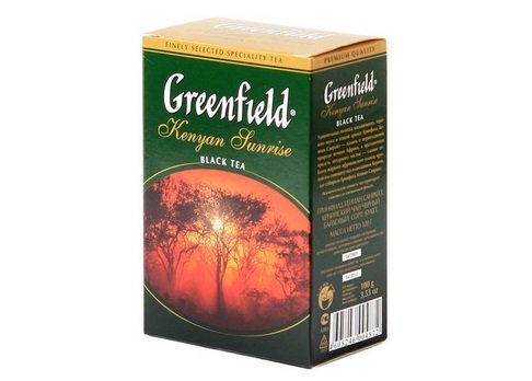 Чай черный Greenfield KENYAN SUNRISE, black tea, list, 100 гр