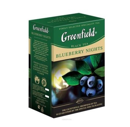 Чай черный Greenfield BLUEBERRY NIGHTS, black tea, list, 100 гр