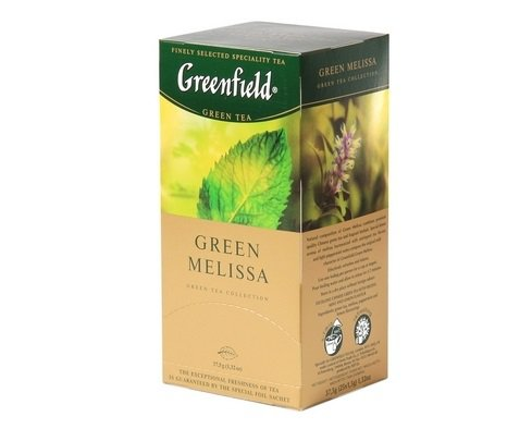 Чай зеленый Greenfield GREEN MELISSA, green tea, 25 пак.