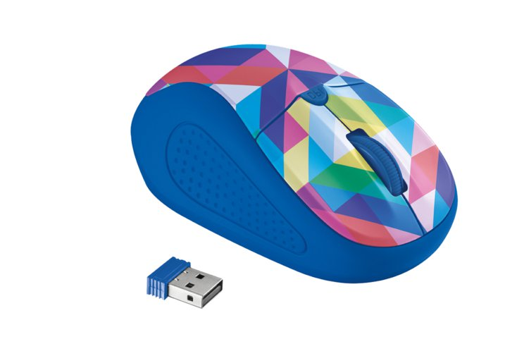Мышь компьютерная Trust Primo Wireless Mouse Blue Geometry (21480 )